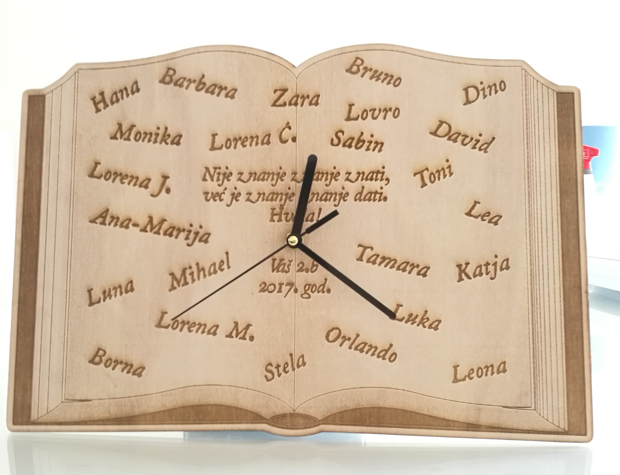 Sat personalizirani šperploča SZ NEOS